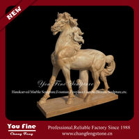 Hand Carved Natural Marble Statue Carved Horse