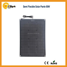 New high efficiency back contact 50W sunpower cell marine semi flexible solar panel for cars or boat