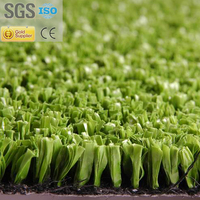 Fibril PE artificial lawn for tennis grass