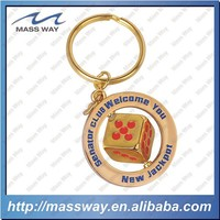 promotional bar zinc alloy custom gold 3D key chain