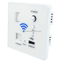 New Hot sales Smart Wifi Socket with 3G USB LAN/ WAN port USB Wall Charger Wholesale CE OEM