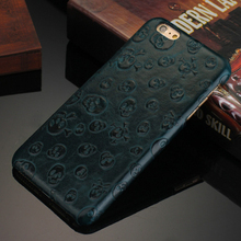 3d image back cover case for iphone 6s,Skull pattern for iphone 6s leather case