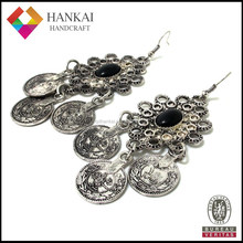 Fashion jewelry antique silver earring, vintage drop earring