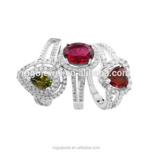 Guangzhou manufacturer fancy crystal clear stone ring jewellery