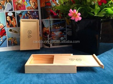 small wooden box with sliding lid