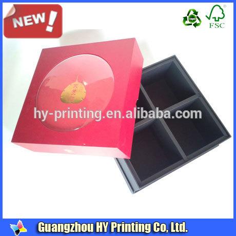 красный цвет бумага искусства коробки торта луны
