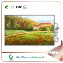 Decorative wall far infrared ray radiant carbon crystal panel heating 1200W 230V with CE RoHS
