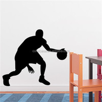 colorcasa ZY8294 wall sticker room decor sport sticker play basketball