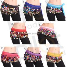Bestdance Cintura per bellydance danza del ventre belly dance Mixed beads belt MONETE Colourful