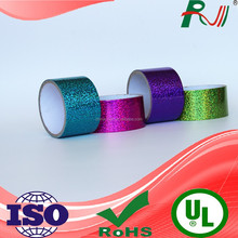 Waterproof colored hologram duct tape for handcraft