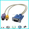 Connect d-sub 15pin male vga to rca cable