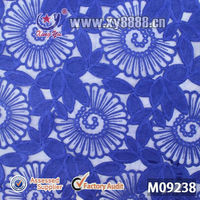 guangzhou african lace embroidery fabric