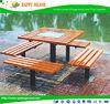 2015 newest desigh antique Double arch outdoor garden bench Wooden Garden Benches