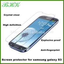 delicate touch 2.5D round edge screen protector for samsung galaxy S3 i9300,tempered glass screen protector for S3