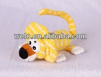 Electronic rolling and laughing cute mini lion, light control stuffed animal plush toy