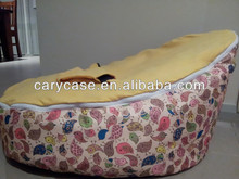 Chirpy bird pattern with yellow baby seat single kids beanbag sofa chair,infant beanbag sleeping beds, decent feeding chairs
