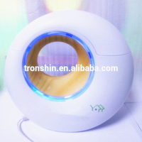 2015 hot selling ultrasonic portable breathing LED light music player sound aroma diffuser with custom made printing pattern