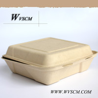 wheat straw fiber based biodegradable tableware compostable container