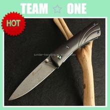 Custom Hand made Damascus Steel Bowie Knife Ebony Handle