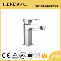 35503 China factory Chromed plating bathroom brass basin faucet