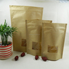2015 china wholesale food plastic flat handle kraft paper bag for food /coffee/tea /snack