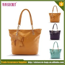 PU Material and Shoulder Bag Style Fashion Tote Bags Guangzhou High Quality PU Handbag