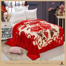 Manufactory walmart alibaba china home textile 2 ply mink blanket king