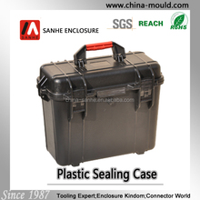 plastic equipment case with red handle