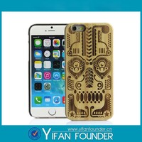 bulk wholesale mobile phone cases real wood back cover custom logo image laser engrave wooden bamboo case for iphone6