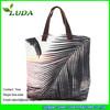 LUDA 2016 Summer Beach Straw Bag Palm Tree Printing Large Canvas Beach Bag