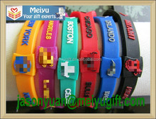 Promotional hot-sale basketball band, power silicone wristband bracelet for Basketball American team logo