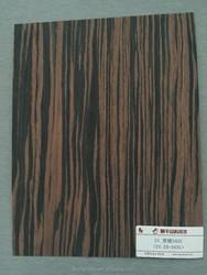 reconstituted wood veneer ebony veneer sheet with FSC certificated for door skin and furniture surface EBONY-343S