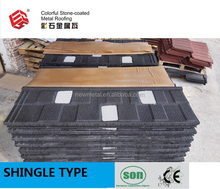 HOT SELLING\NEW DESIGN\COLOURED ROOF TILE\SHINGLE STONE COATED METAL ROOF TILE