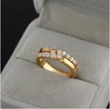 Fashion New Jewelry Luxury Women 18K Gold Filled Crystal Rhinestone Wedding Ring