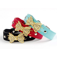 Fashion dog collar buckle,dog collar with butterfly design made in china