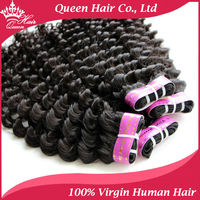 2015 Wholesale Brazilian Virgin Hair Deep Wave Human Hair Extension