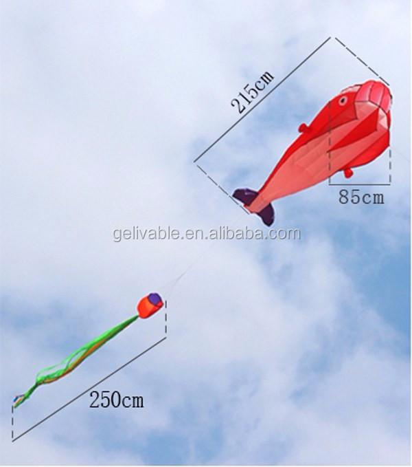 Single line easy flying no frame dolphin soft kite shipping free (3).jpg
