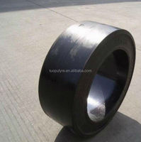 good quality press-on solid tyre 12x4 1/2x8, forklift tyre