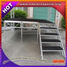 Aluminium frame , wooden platform outdoor stage with high quality made from ESI