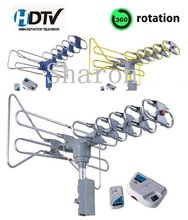 Amplified HDTV ATSC 1080P Remote controlled Rotating TV Antenna DT-808C - high definition antenna (CCT)