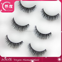 Custom package wholesale price 2015 new style world beauty human hair eyelash