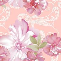 big pink flower design bridal bedding set peach skin fabric