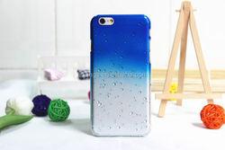 New arrival Gradient Color Raindrop Transparent Plastic Hard for iphone 6 case wholesale