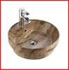 Modern basin porcelain material single taphole sanitary color art sink A279-P08