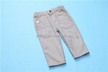 tessuto di cotone pantaloni alla caviglia dei bambini pantaloni bianchi