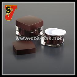 Attractive bottom price cosmetic square jar