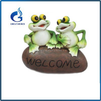 lovely small resin sitting yoga frog figurines decorative