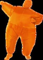 Solid orange color inflatable halloween costume waterproof for sale-287112#