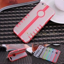 new products ultra thin plastic back cover for iphone 6 pc case with stand