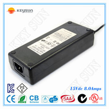 power transformer 120w switching ac/dc adapter 15v 8a power supplies UL FCC Approvaled